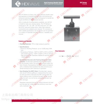 美国HEX HH15/HH15S系列高压针型阀 原装正品