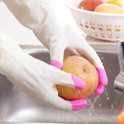 馨友家务手套 厨房清洁橡胶乳胶防水耐用清洗护肤薄款手套批发