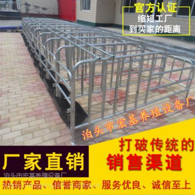 陕西母猪定位栏价格热镀锌限位栏尺寸定做猪用设备批发