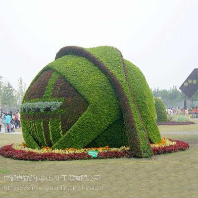 仿古风气息的古代真植物扇子造型,真植物狮子大开口绿雕