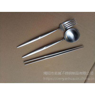 名瑞304不锈钢筷子 、尖头家用防滑筷子、 酒店筷子礼品批发
