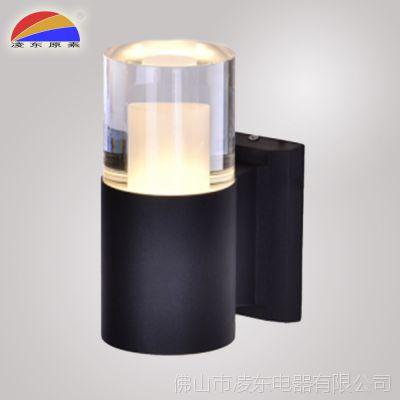 出口铝合金亚克力IP65户外防水壁灯AC85-265V单头LED 1*6W