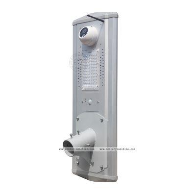 太阳能感应灯新款亚马逊户外一体化摄像头led庭院灯照明壁灯