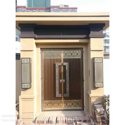石家庄铜门厂家 中式铜门设计制作安装 转转门控