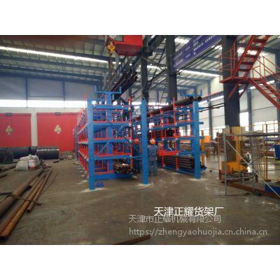 江西12米钢管怎么存放 伸缩式悬臂货架优点 金属材料存储架