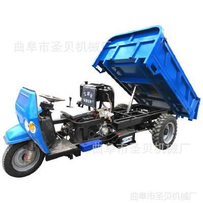建筑工地混凝土工程三轮车/厂家直销液压自卸柴油三轮车