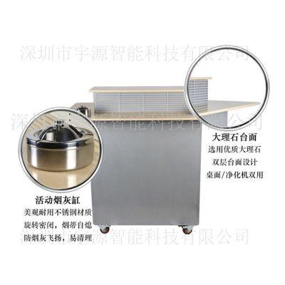 供应广东宇源智能吸烟台 吸烟室专用空气净化机器产品