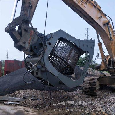 湖北卡特挖掘机旋转筛分斗供应商洗石洗砂铲斗