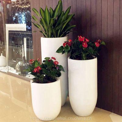 餐饮娱乐商业空间装饰绿植景观树脂玻璃钢花盆