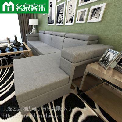 软包家具F111-19大连沙发工厂直销客厅家具