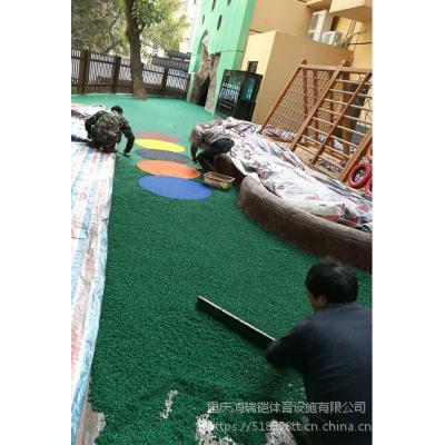 """重庆篮球场塑胶维修翻新,南京""""太阳""""牌EPDM颗粒LJ-3487全塑型厚度8mm"""
