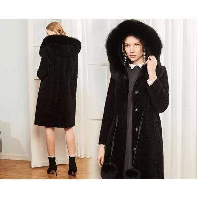 雪莉欧品牌女装羊剪绒大衣一手货源批发走份