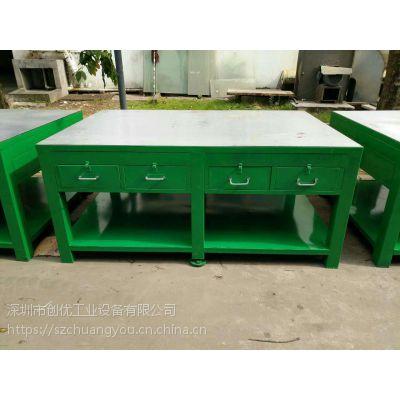 生产车间防静电产品检测桌 品检专用工作台 带灯架抽屉质量工作台