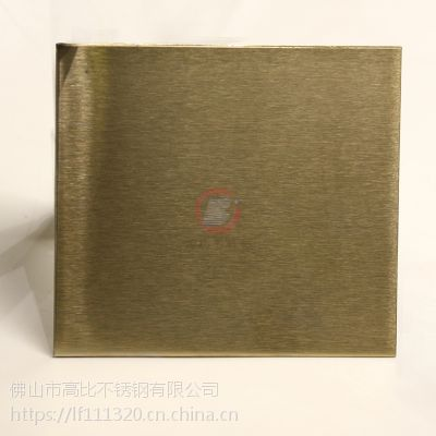 高比雪花砂香槟金色不锈钢装饰板 来样定制雪花砂板 不锈钢表面处理
