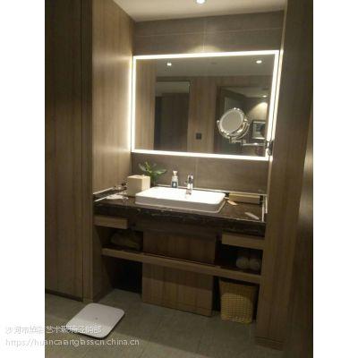 新款化妆镜 酒店智能触控浴室镜 节能浴室防水除雾灯镜化妆镜定制