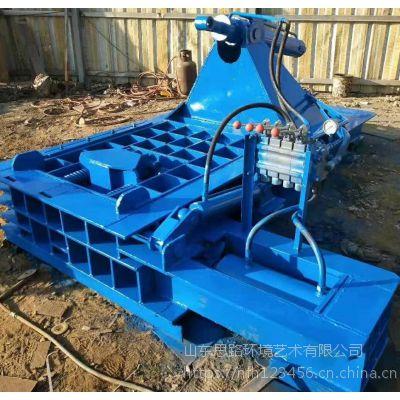 200吨废铁压块机料箱尺寸 30*30的包块压包机山东思路定做八角压块机