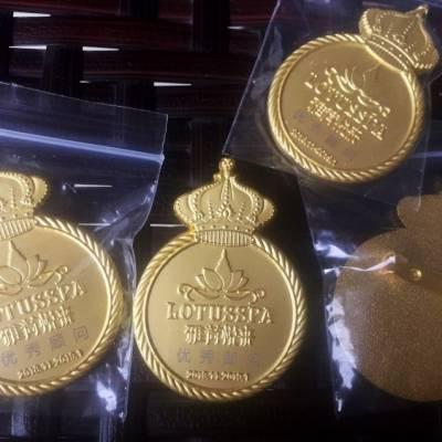 镀金徽章,西安纯银纪念章设计开模加工 木盒定制等服务