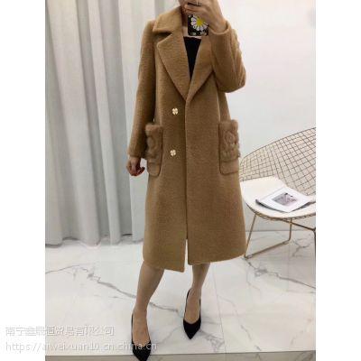 苏力羊驼绒 大衣 18年新款 品牌女装尾货折扣批发