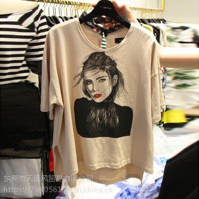 19年新款韩版女式T恤特价2-5元库存尾货便宜清纯棉T恤女士短袖清仓