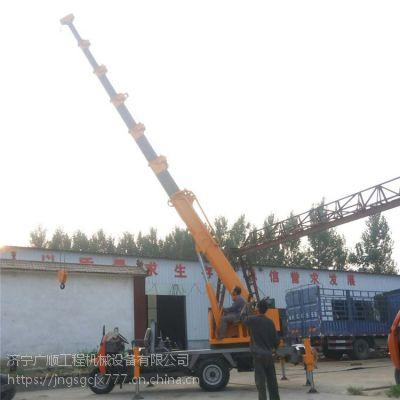 定制三轮背背吊 自制三马子随车吊机 3吨车载吊机图片
