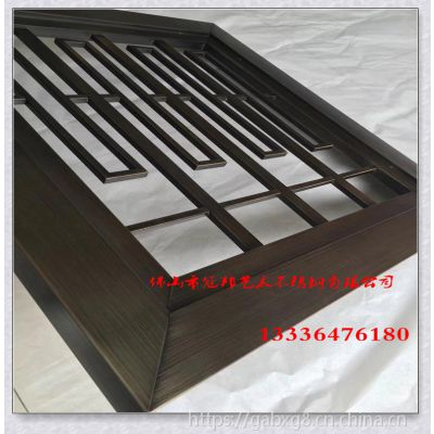 黑金拉丝不锈钢屏风 钛金镜面隔断 屏风定制厂家佛山