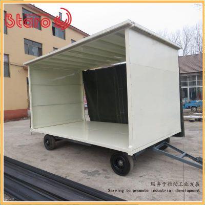 供应无轨式拖车 百达力欧制造工厂用叉车牵引平板拖车