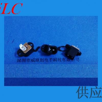 深圳供应 DC电源插座 DC-016 直插 焊线式电源连接器 环保耐高温