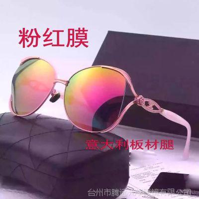 2017女款偏光太阳眼镜 板材腿高档墨镜 女士潮流太阳镜