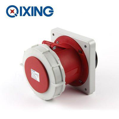 启星QX1461 5P/125A 欧标工业防水暗装直插座