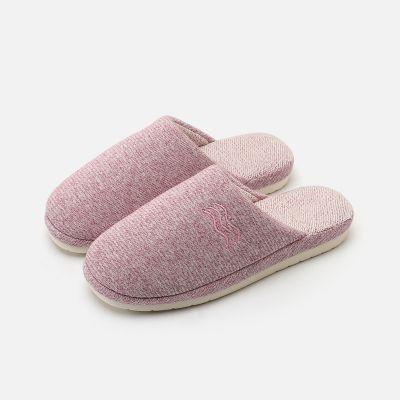 日式冬天室内家居保暖拖鞋女士 冬季防滑厚底居家棉拖鞋男 EVA鞋底