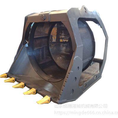 江苏卡特320挖机液压滚筒筛旋转式筛分斗筛选废料机械