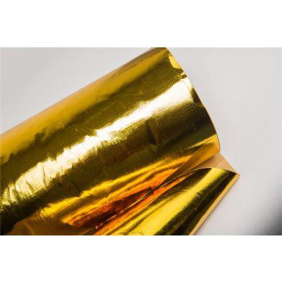 厂家直供鑫茂金色铝箔隔热布 汽车进气管隔热布