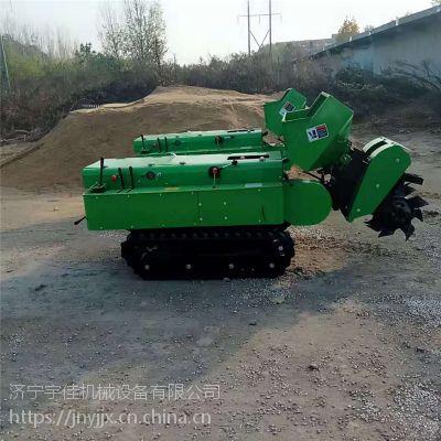 云南大棚果树履带式施肥机 宇佳手扶履带松土翻土机 芒果园施肥回填一体机