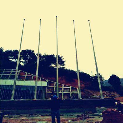 金聚进 户外不锈钢旗杆 升降锥形国旗杆 寺庙旗杆6米9米12米