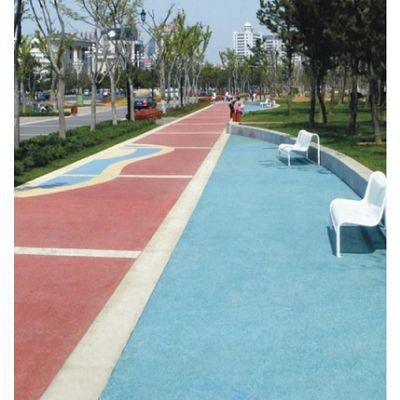 全新疆彩色透水混凝土道路施工 库尔勒市多孔混凝土路面 彩色透水地坪