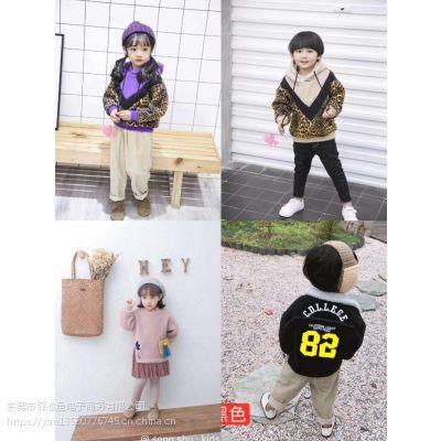 2018新款时尚童装批发衣服图片中高档质量好价位中等的童装加厚外套批发中长款韩版外穿呢子大衣批发