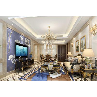 蓝光林肯墅装修,联排别墅户型装修设计效果图|重庆全案设计装修公司