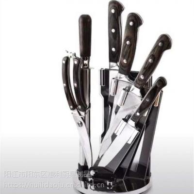 供应厨房套刀锤纹锻打不锈钢菜刀套装鸡骨剪七件礼品刀惠利作