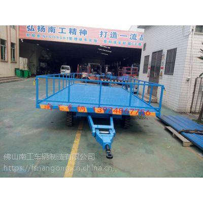 5吨护栏型无动力全挂车,蓝色