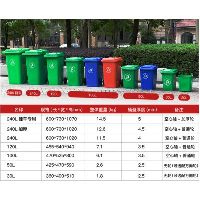 寿桥村镇环卫垃圾桶单价 久宸 30升50升100升120升240升垃圾桶厂家直销 鄂州