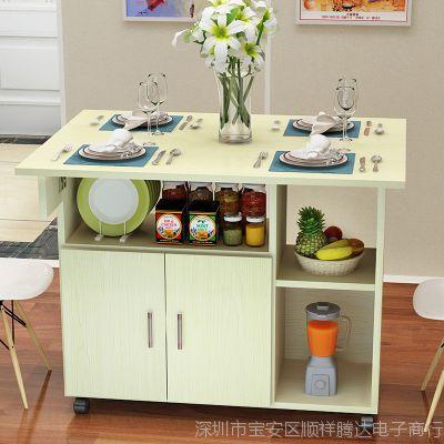 餐厅小木桌靠墙简约长木桌饭店长条厨房小桌子厨房小桌子置物架