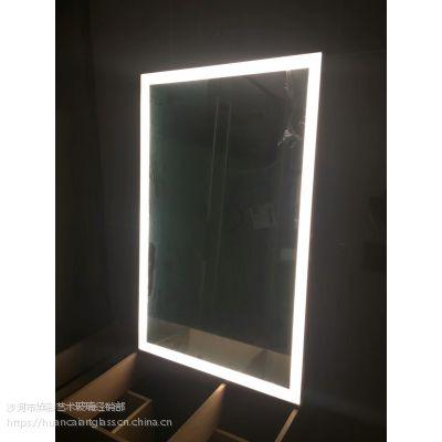 厂家热销2018新款卫生间化妆镜 智能除雾浴室镜壁挂led灯镜定制