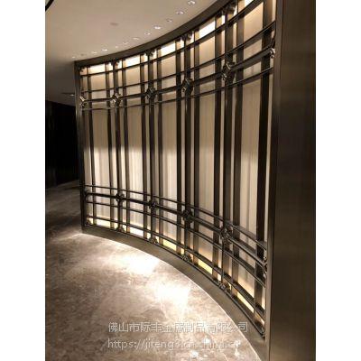 不锈钢装饰花格,订制不锈钢隔断屏风