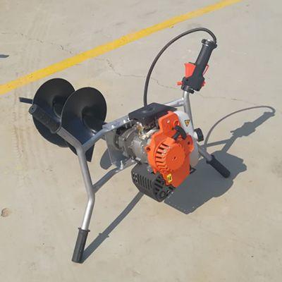 小型挖坑机 立柱挖坑机视频操作