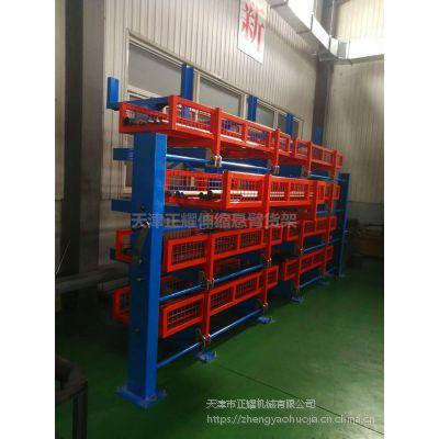 南通管材货架生产 伸缩悬臂货架图片 超长管材存储