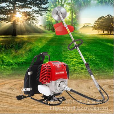 农用便携式汽油割草机 小型稻草秸秆收割机 可配除草松土