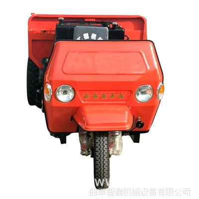 工地倒料专用工程三轮车  乾宇牌可定制农用矿用装载自卸三轮车