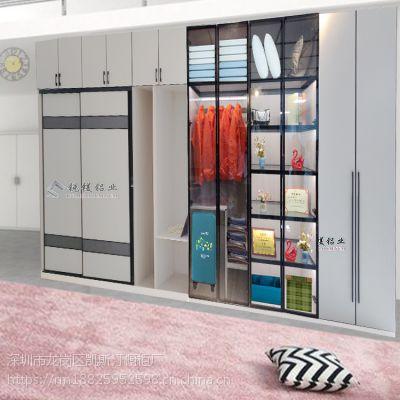 锐镁全铝家居铝合金衣柜铝型材批发定制衣柜 加盟全铝家具产品