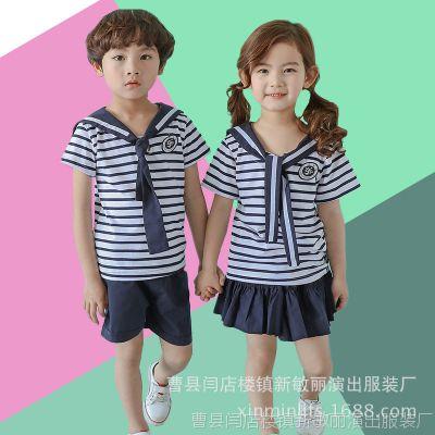 夏款新款全棉幼儿园园服班服校服教师服中小学生演出服合唱服套装