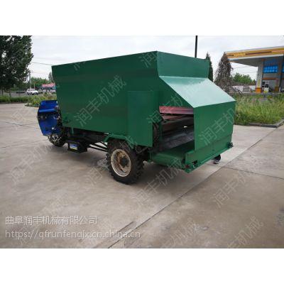 养殖饲料混合搅拌撒料车 单人操作牛场喂料车 牛羊饲料牧草投放车